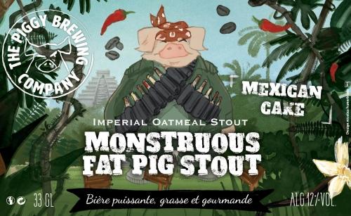 Bière Monstruous Fat Pig Stout de la barsserie The Piggy Brewing Company