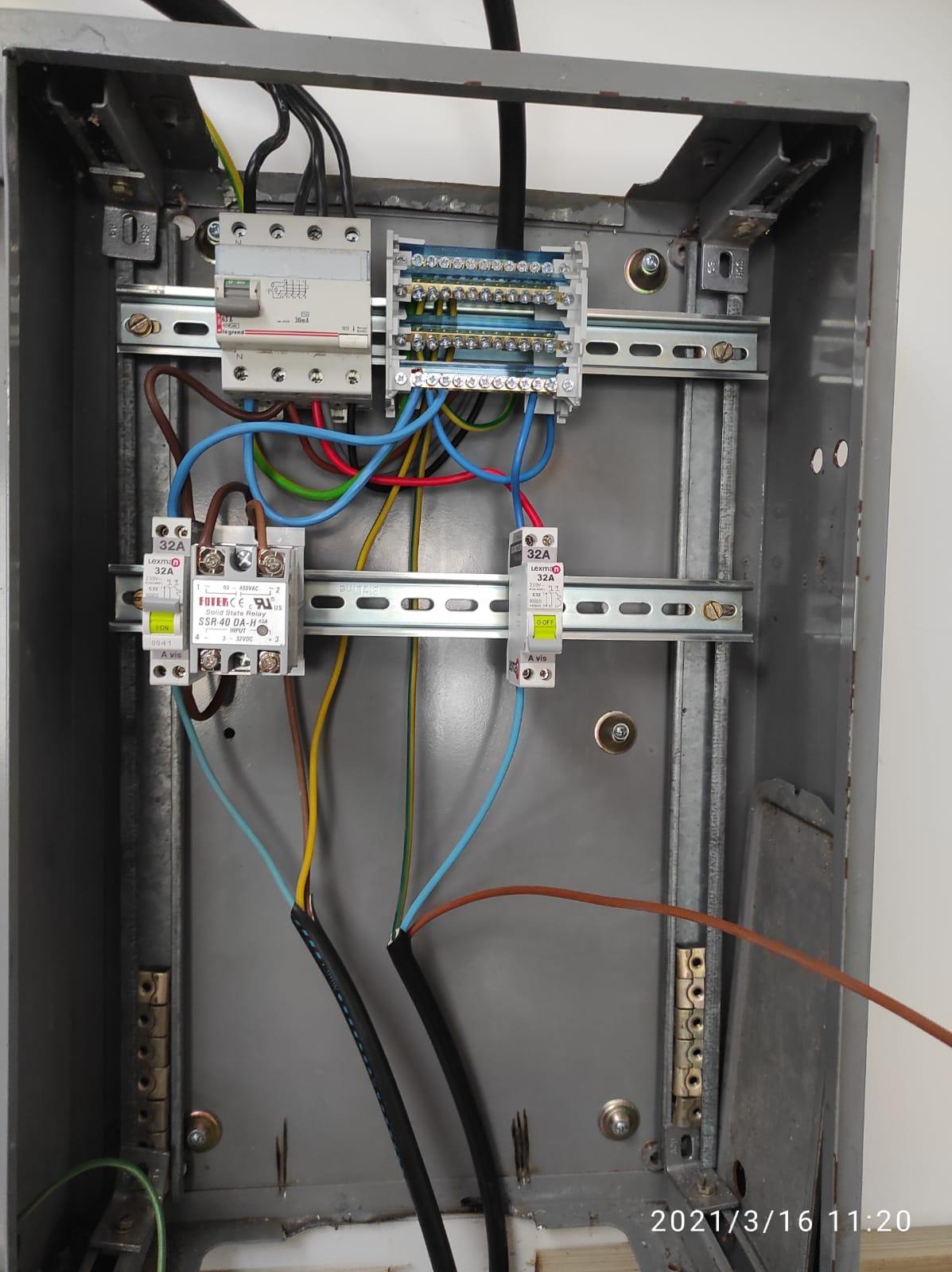 Branchements câbles CraftbeerPi2