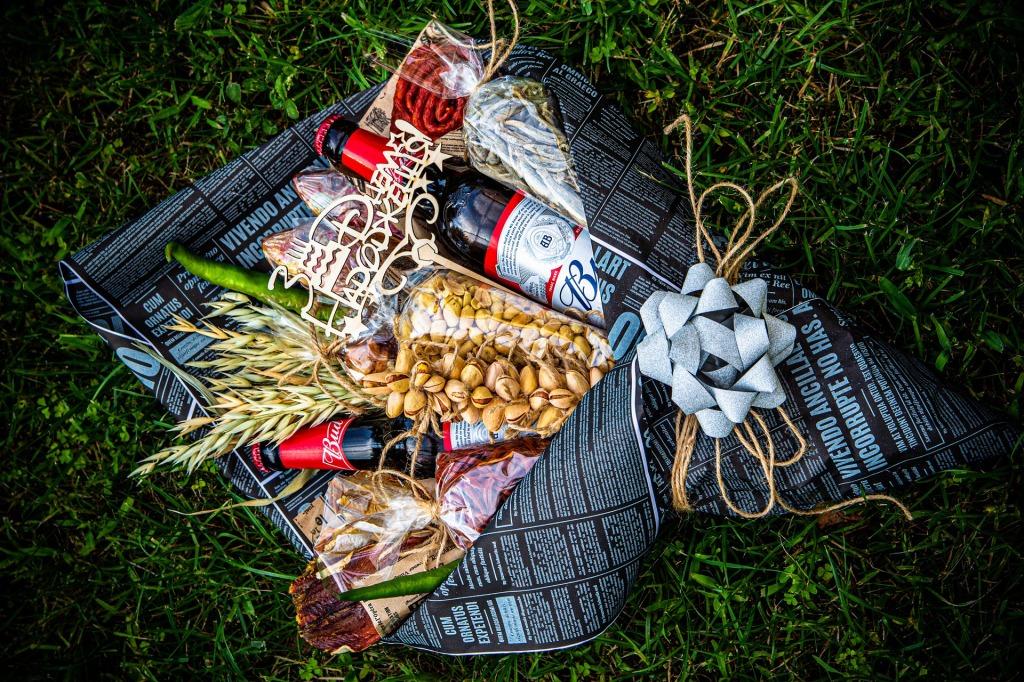 Bouquet cadeau avec des bières
